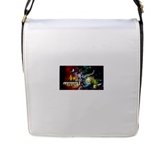 Abstract Music Painting Flap Messenger Bag (l)