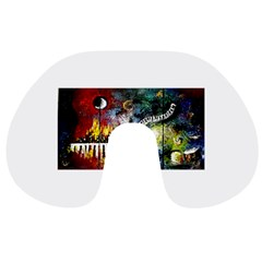 Abstract Music Painting Travel Neck Pillows