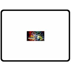 Abstract Music Painting Double Sided Fleece Blanket (large)