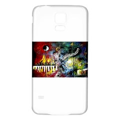 Abstract Music Painting Samsung Galaxy S5 Back Case (White)