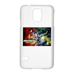 Abstract Music Painting Samsung Galaxy S5 Case (white)