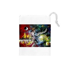 Abstract Music Painting Drawstring Pouches (Small)