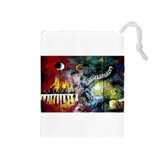 Abstract Music Painting Drawstring Pouches (Medium)
