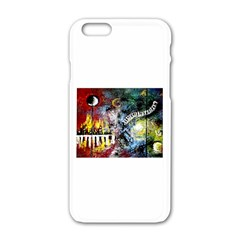 Abstract Music Painting Apple iPhone 6 White Enamel Case