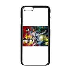 Abstract Music Painting Apple Iphone 6 Black Enamel Case