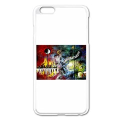 Abstract Music Painting Apple iPhone 6 Plus Enamel White Case