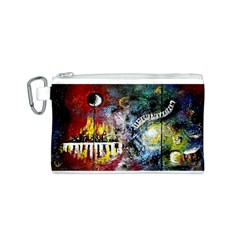 Abstract Music Painting Canvas Cosmetic Bag (S)