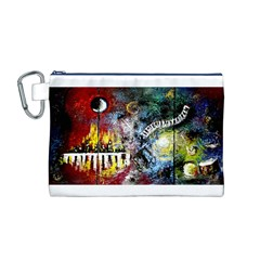 Abstract Music Painting Canvas Cosmetic Bag (M)