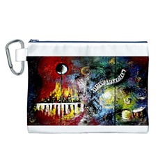 Abstract Music Painting Canvas Cosmetic Bag (L)