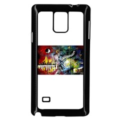Abstract Music Painting Samsung Galaxy Note 4 Case (Black)