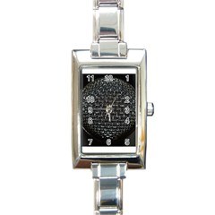 Modern Microphone Rectangle Italian Charm Watches