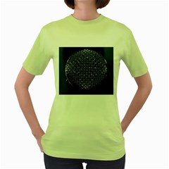 Modern Microphone Women s Green T-Shirt