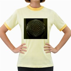 Modern Microphone Women s Fitted Ringer T-Shirts