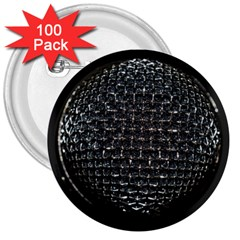 Modern Microphone 3  Buttons (100 Pack)