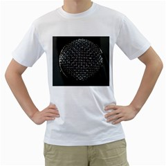Modern Microphone Men s T Shirt (white) (two Sided)