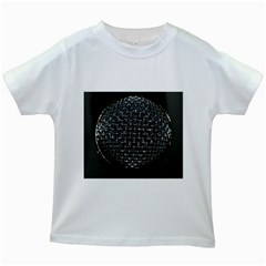 Modern Microphone Kids White T Shirts