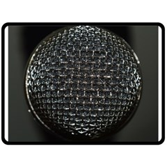 Modern Microphone Fleece Blanket (Large)