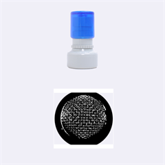 Modern Microphone Rubber Round Stamps (Small)