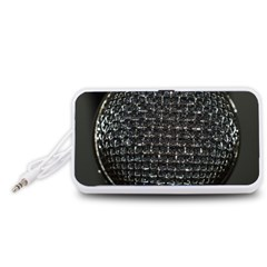 Modern Microphone Portable Speaker (White)