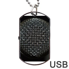 Modern Microphone Dog Tag USB Flash (Two Sides)