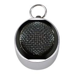 Modern Microphone Mini Silver Compasses