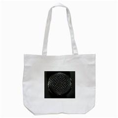 Modern Microphone Tote Bag (White)