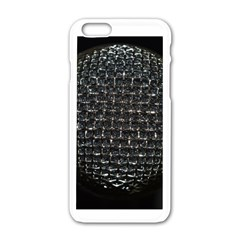 Modern Microphone Apple iPhone 6 White Enamel Case