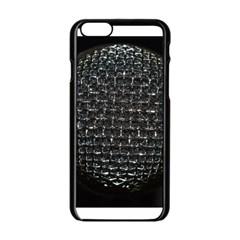 Modern Microphone Apple iPhone 6 Black Enamel Case
