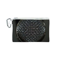 Modern Microphone Canvas Cosmetic Bag (S)
