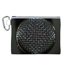 Modern Microphone Canvas Cosmetic Bag (L)