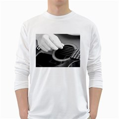 Guitar Player White Long Sleeve T-Shirts