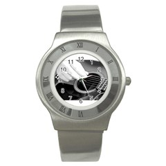 Guitar Player Stainless Steel Watches