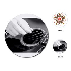 Guitar Player Playing Cards (Round)