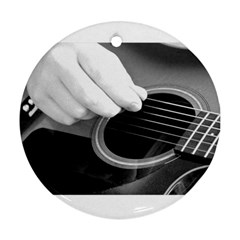 Guitar Player Round Ornament (two Sides)