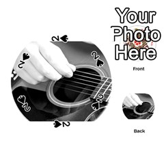 Guitar Player Playing Cards 54 (round)