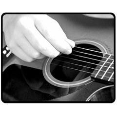 Guitar Player Fleece Blanket (medium)