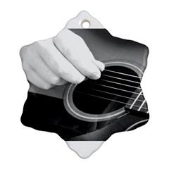 Guitar Player Ornament (snowflake)
