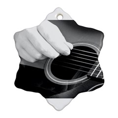 Guitar Player Snowflake Ornament (2 Side)