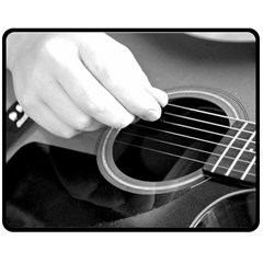 Guitar Player Double Sided Fleece Blanket (Medium)
