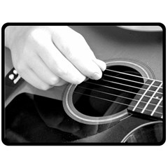 Guitar Player Double Sided Fleece Blanket (Large)
