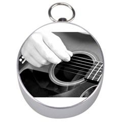 Guitar Player Silver Compasses