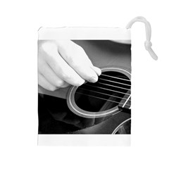 Guitar Player Drawstring Pouches (Large)
