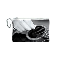 Guitar Player Canvas Cosmetic Bag (S)
