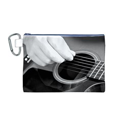 Guitar Player Canvas Cosmetic Bag (M)
