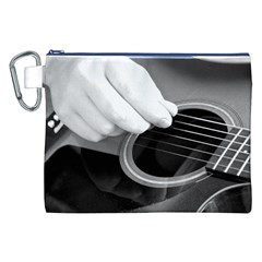 Guitar Player Canvas Cosmetic Bag (XXL)