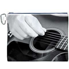 Guitar Player Canvas Cosmetic Bag (XXXL)