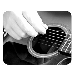 Guitar Player Double Sided Flano Blanket (Large)