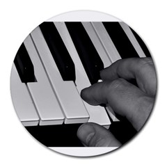 The Piano Player Round Mousepads