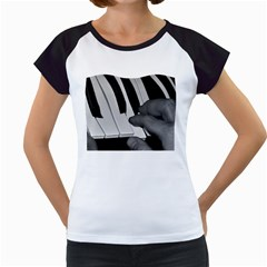 The Piano Player Women s Cap Sleeve T