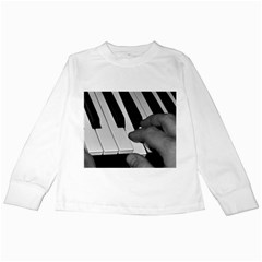 The Piano Player Kids Long Sleeve T-Shirts